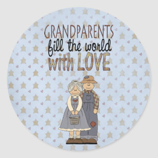 Country Collection Grandparents Love Stickers