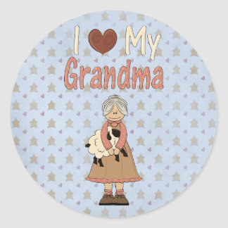 Country Collection I Love my Grandma Stickers