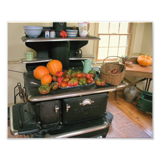Country Cook Stove Photo Print
