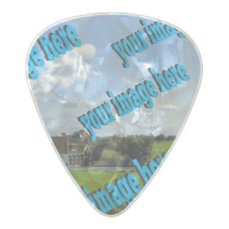Country Cottage Create Your Own Template Pearl Celluloid Guitar Pick