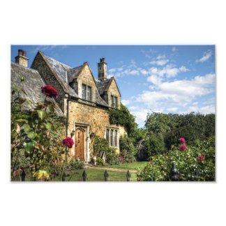 Country Cottage HDR art photo print