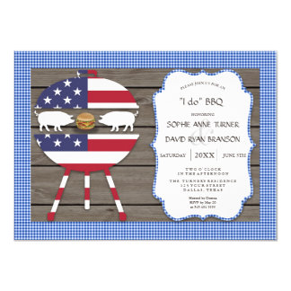 Country Couples Shower I DO BBQ Engagement Party Card