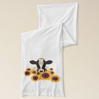 Country cow and sunflowers scarf