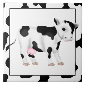 Country Cow cartoon kitchen tile