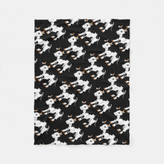 Country cow pattern fleece blanket
