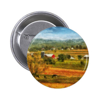 Country - Cows Grazing Button