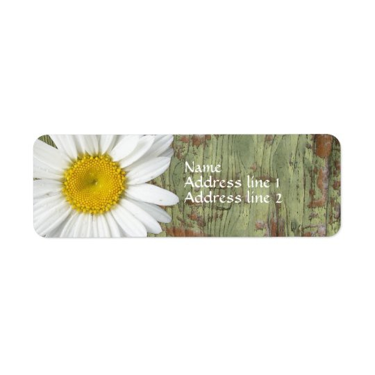 Country Daisy Barn Wood Address Labels