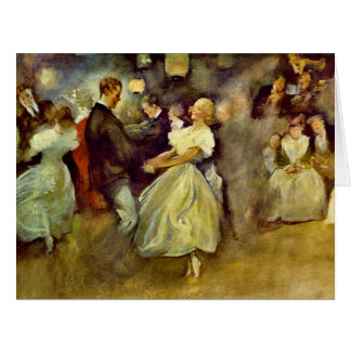Country Dance 1890 Big Greeting Card