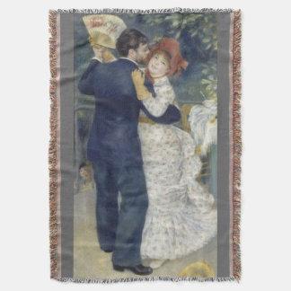 Country Dance by Pierre Renoir, Vintage Fine Art Throw Blanket