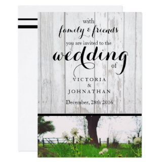 Country Dandelion Wedding Invitation - Photography