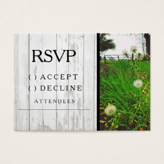 Country Dandelion Wedding RSVP Card - Invitation