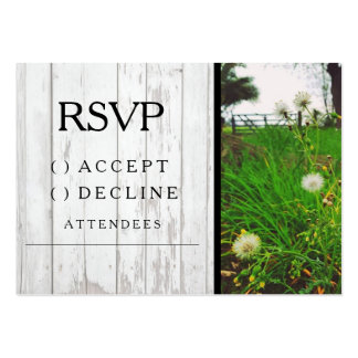 Country Dandelion Wedding RSVP Card - Invitation Pack Of Chubby Business Cards