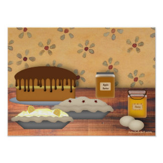 Country Desserts Print
