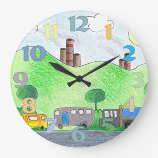 Country Drive Round Clock