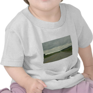 Country Driving - Long Road - Green Grass T Shirts