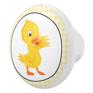 Country Duck cartoon Ceramic knob