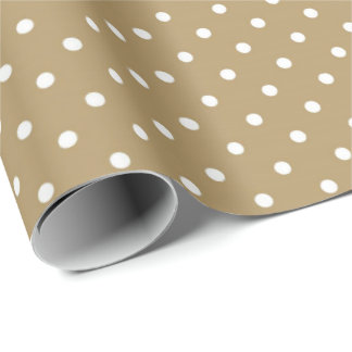 Country Earth brown polka dot party wrap