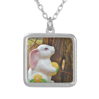 Country Easter Bunny Necklaces