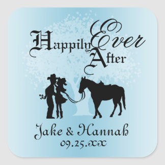 Country Fairy Tale Square Sticker