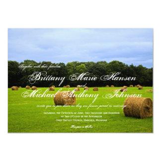 Country Farm Hay Bales Rustic Wedding Invitations