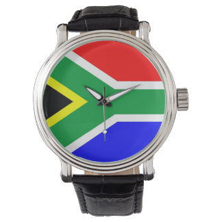 country flag south africa wristwatch