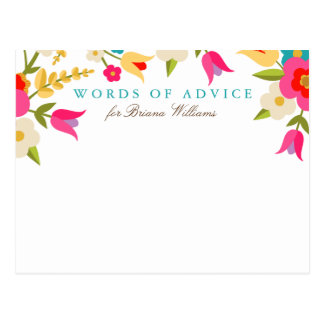 Country Floral Grad Advice Cards Postcard
