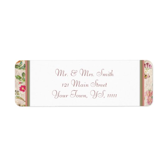 Country Floral Return Address Return Address Label