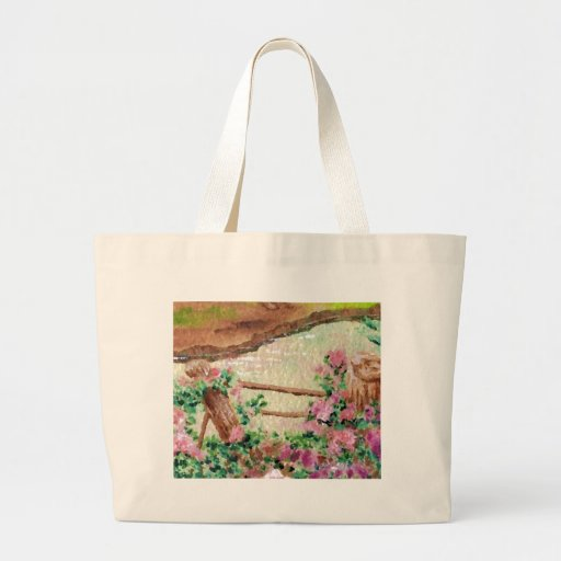 Country Flowers Canvas Bag