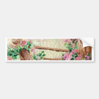 Country Flowers Bumper Stickers