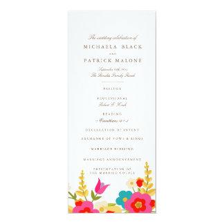 Country Flowers Wedding Programs 10 Cm X 24 Cm Invitation Card