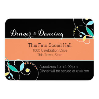 Country Folk Art Inspired Reception Information Card