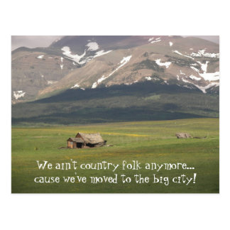 Country Folk Change of Address Postcard