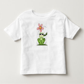 Country Frog and Flower Toddler T-Shirt