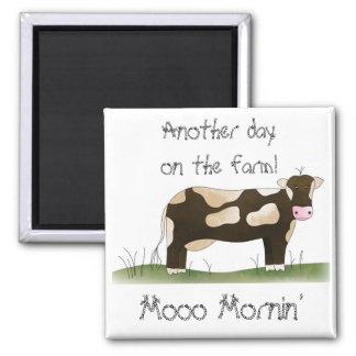Country Fun Comic Cow Fridge Magnet