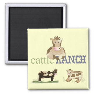 Country Fun Comic Cows Cattle Ranch Fridge Magnet