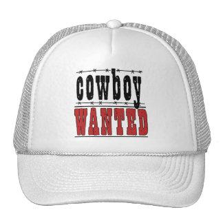Country Fun Cowboy Wanted Cap Hat