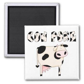 Country Fun Cowpoke Cow Magnet