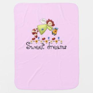 Country Garden Angel Pink Girl's Baby Blanket