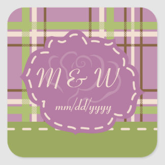 Country Garden Wedding Stickers
