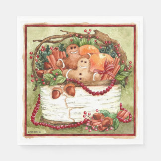 Country Gingerbread Basket Napkin Paper Napkin