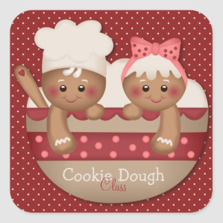 Country Gingerbread Chefs Stickers