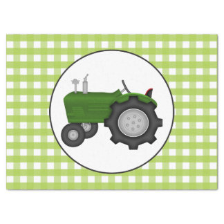 Country gingham green style party tissue tissue paper