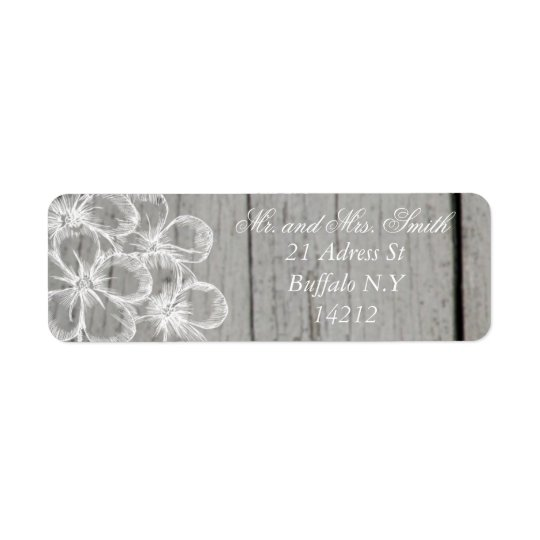 Country Grey Wedding Return Adress Return Address Label