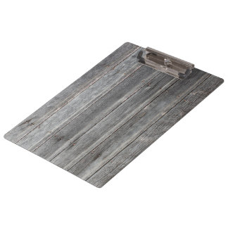 Country Grey Wood Wall Clipboard