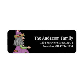 Country Halloween Witch Return Address Labels