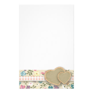 Country Heart Ditsy Floral Notepaper Stationery