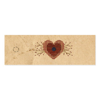 Country Heart Skinny Hang Tag Pack Of Skinny Business Cards