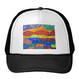 Country Holidays abstract landscape Hats
