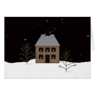 Country Home Large Font Christmas Card