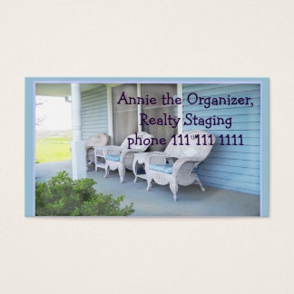 Country Home Photo, customize, Home Staging Business Card